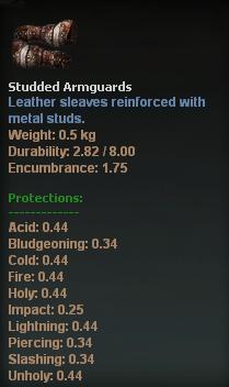 Studded Armguards