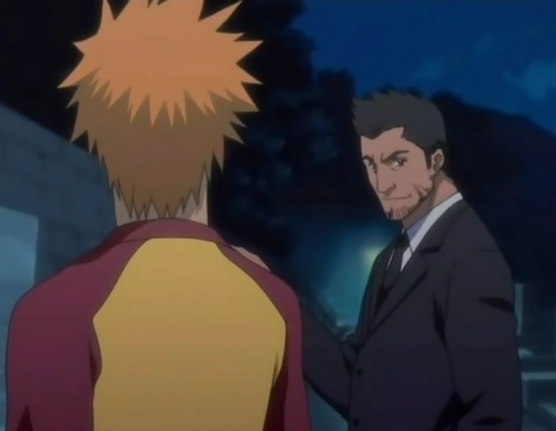 File:Isshin and Ichigo talk serious.png
