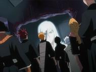 Ukitake informs Hitsugaya and his team