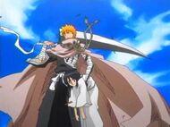 Ichigo saves rukia