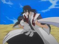 Byakuya saves Rukia