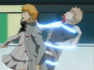 Rukia removes Ichigo
