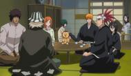Rukia listens to Kisuke