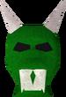 Green h'ween mask detail