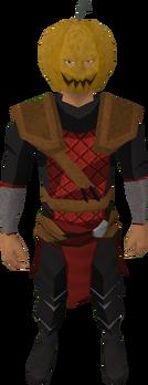 Jack lantern mask equipped