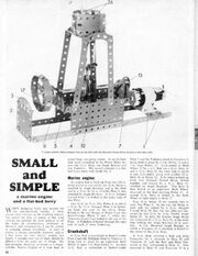 Meccano Magazine engine building instructions page 42 June 1966
