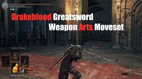 Weapon Arts Showcase Drakeblood Greatsword