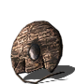 Cracked round shield