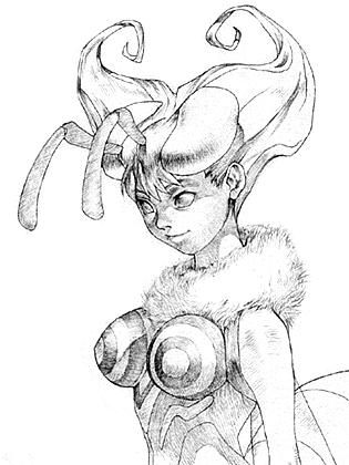 File:Darkstalkers 3 Q-bee Opening Sketch.png