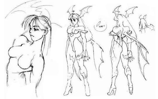 File:Morrigan concept sketches.png