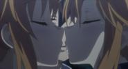 Kaguya and Yuzuru kiss Shido