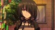 Clone Kurumi smiling at Shido