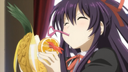 Tohka sipping fruit drink