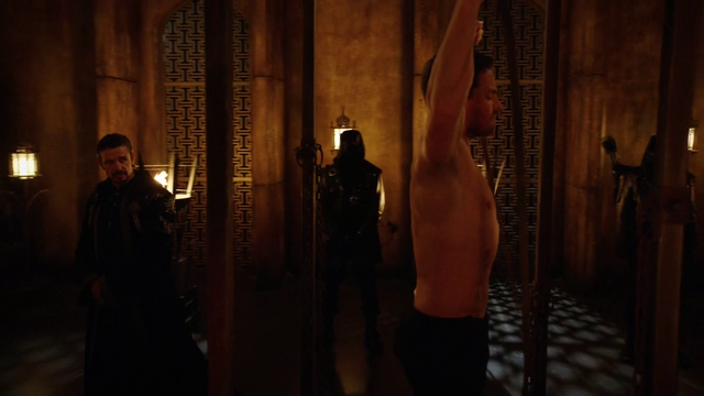 File:Ra's al Ghul initiates Oliver into the League of Assassins.png