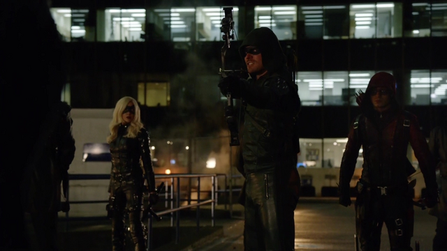 File:Black Canary, The Arrow and Arsenal face Ra's al Ghul.png