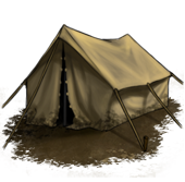 Tent up