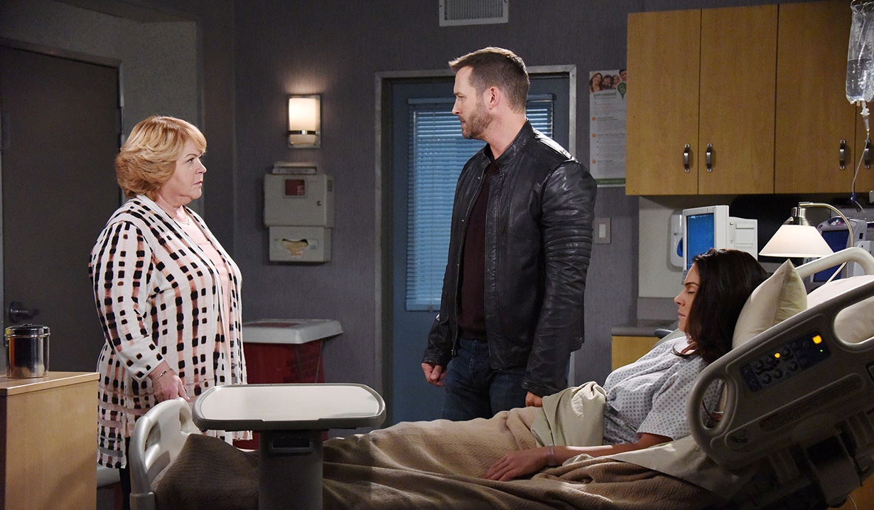Image nancy bans brady from hospital room days days of our lives wiki fandom for Where the rooms are a collection of our lives