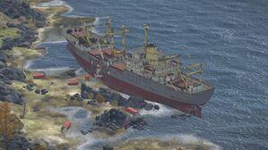 Rify Shipwreck aerial