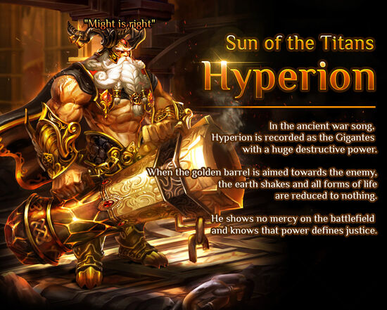 Gigantes Hyperion release poster