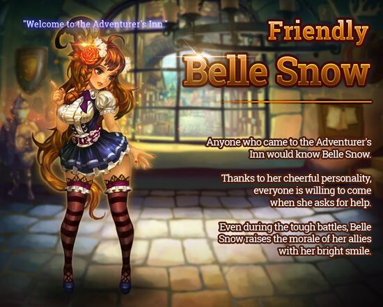 Friendly Belle Snow release poster