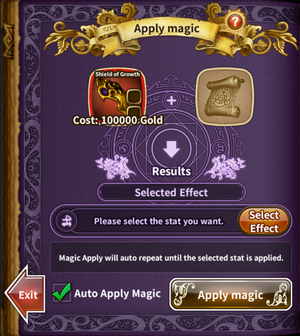 Magic System auto apply magic