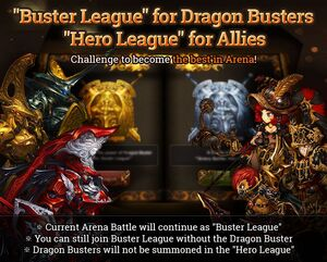 Buster League info poster