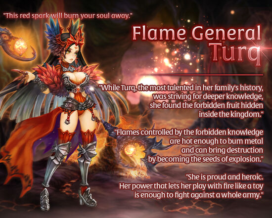 Flame General Turq release poster