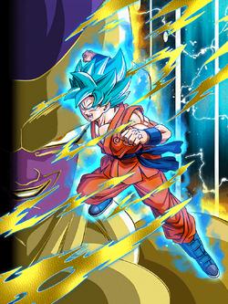 Crusher of Evil Super Saiyan God SS Goku