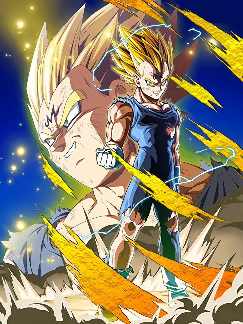 Beyond The Ferocious Flash Majin Vegeta Dragon Ball Z