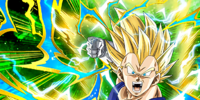 Desperate Charge Super Saiyan 2 Vegeta
