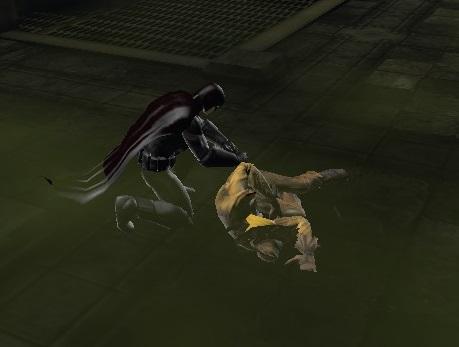 Black Harrier Takes Down Scarecrow