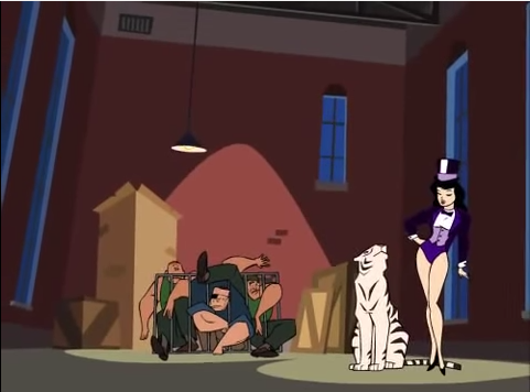 File:Hold That Tiger Zatanna & his tiger.png