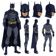 Dick Grayson Batman model sheet designs