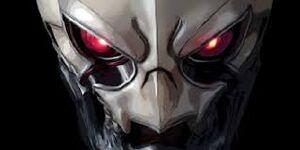 Grey skull angry