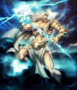 Zeus the god all