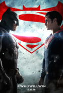 Batman v Superman Dawn of Justice theatrical poster - WhoWillWin