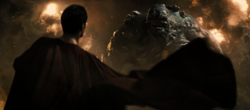 Superman stares down Doomsday