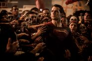Superman amongst Day of the Dead celebrations