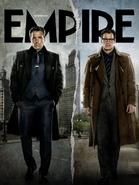 Empire - Batman v Superman Dawn of Justice September 2015 variant cover - Bruce Wayne and Clark Kent
