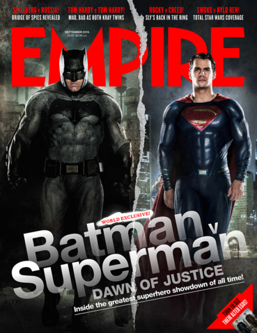 File:Empire - Batman v Superman Dawn of Justice September 2015 variant cover - Batman and Superman.png