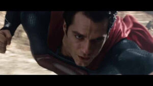 Superman flies for the first time