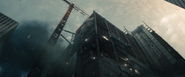 The LexCorp building before its destruction