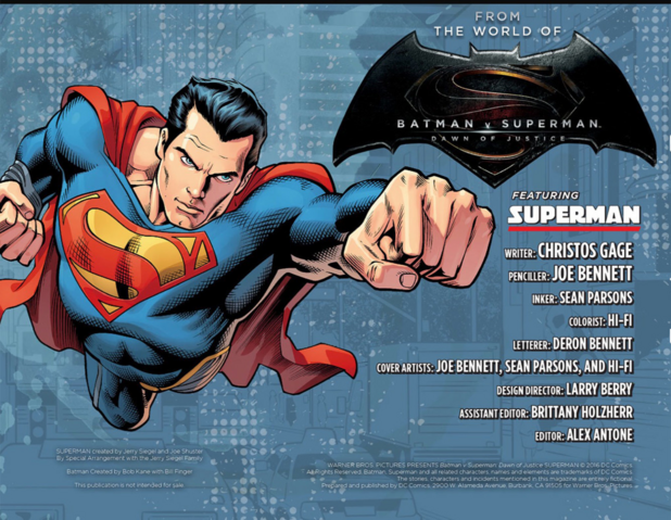 File:Batman v Superman Dawn of Justice – Superman title page.png