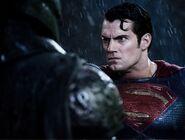Superman glares down Batman