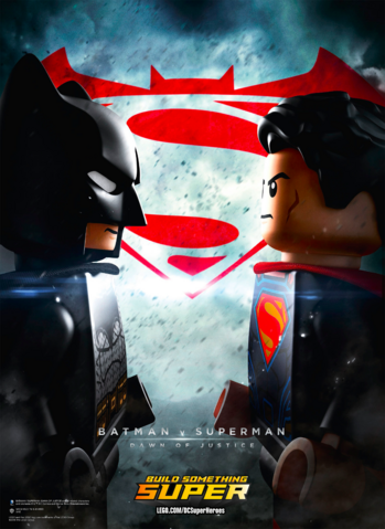 File:Batman v Superman Dawn of Justice LEGO theatrical poster.png