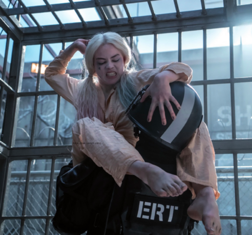 File:Harley Quinn beats up a soldier.png