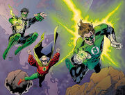 Kyle Rayner Alan Scott and Hal Jordan