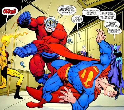Supermanorionfight