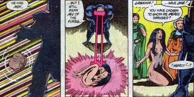 Darkseid efeito omega reintegra lashina