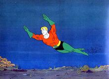 Aquaman swimming